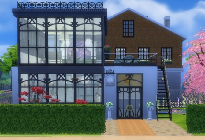 Sims 4 Bohemian bridal boutique by Bunny m at Mod The Sims
