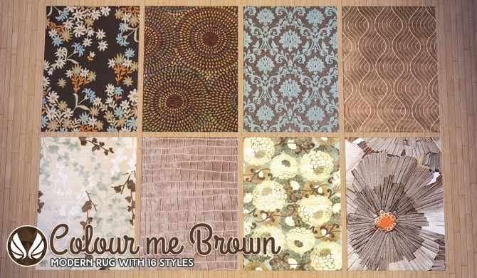 Colour Me Brown Modern Rugs At Simsational Designs 187 Sims