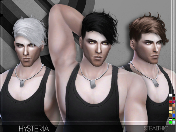 Hysteria Male Hair by Stealthic at TSR image 38 Sims 4 Updates