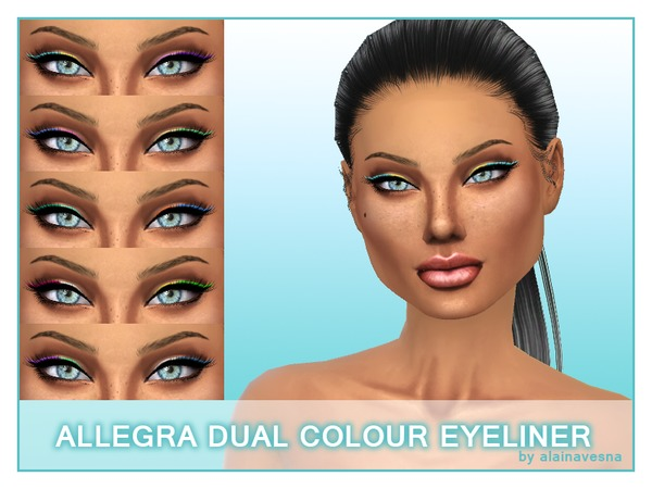 Allegra Dual Colour Eyeliner by alainavesna at TSR image 3817 Sims 4 Updates