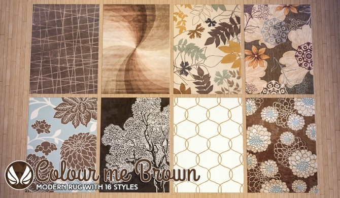 Sims 4 Colour Me Brown Modern Rugs at Simsational Designs