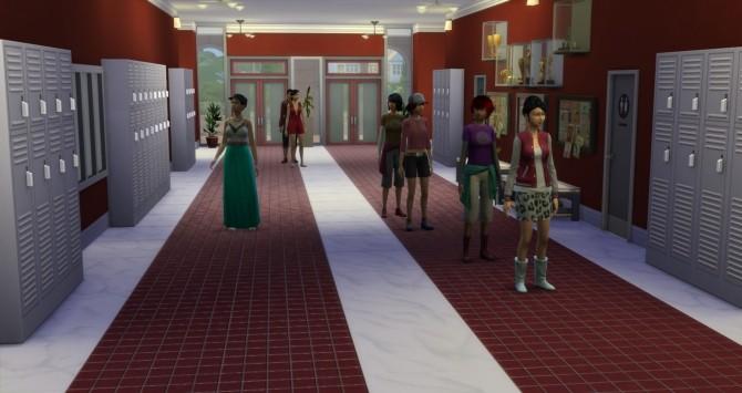 Willow Creek High School By Sim4fun At Sims Fans 187 Sims 4