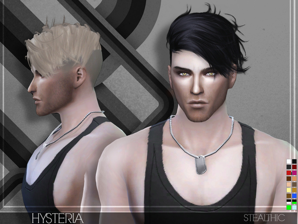 Hysteria Male Hair by Stealthic at TSR image 39 Sims 4 Updates