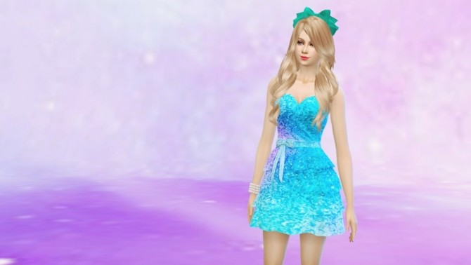 Romantic Frilly Dress Glittery by Czarina27 at Mod The Sims image 391 670x378 Sims 4 Updates