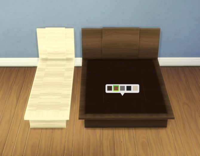 Emi Uto Bed Frames By Plasticbox At Mod The Sims Sims 4 Updates