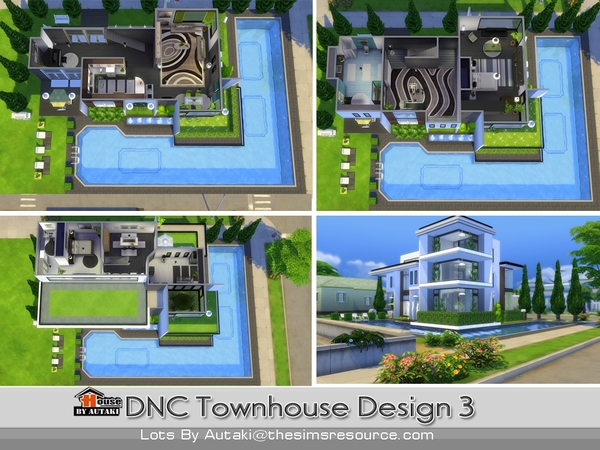 Sims 4 DNC Townhouse Design 3 by autaki at TSR