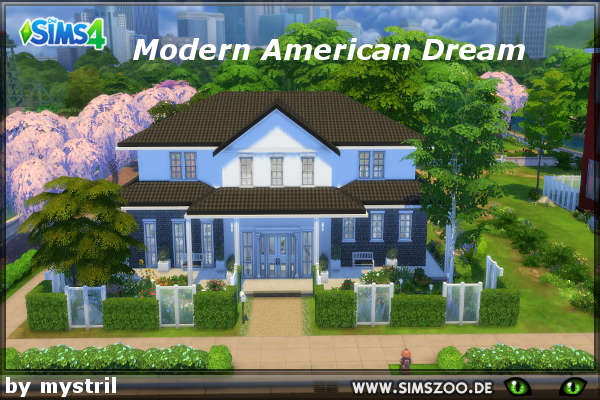 Modern American Dream House By Simsatelier At Blacky S