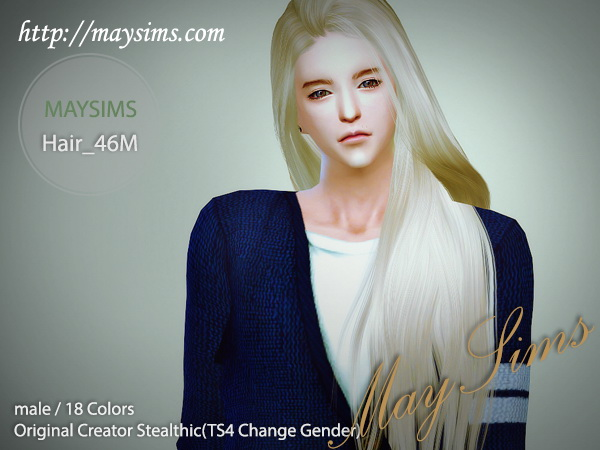 Sims 4 Hair 46M (Stealthic) at May Sims