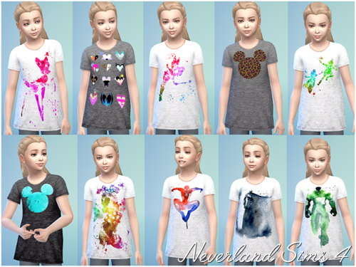 Shirts for kids at Neverland Sims4 image 4107 Sims 4 Updates