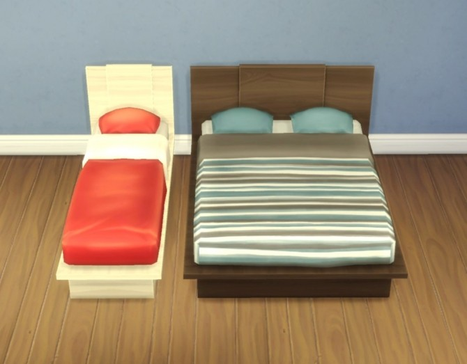 Sims 4 Emi/Uto Bed Frames by plasticbox at Mod The Sims