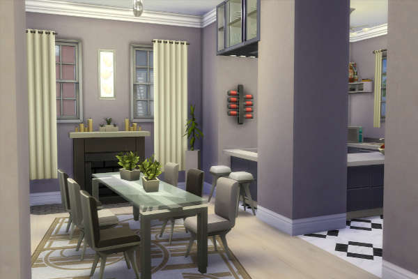 Sims 4 Modern American Dream house by SimsAtelier at Blacky's Sims Zoo