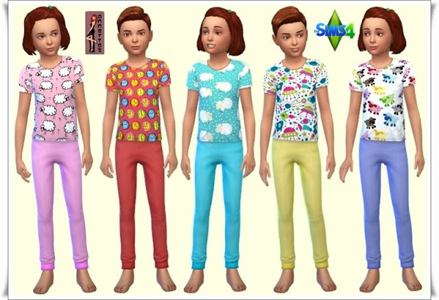Sleepwear for Kids at Annett's Sims 4 Welt image 4312 Sims 4 Updates