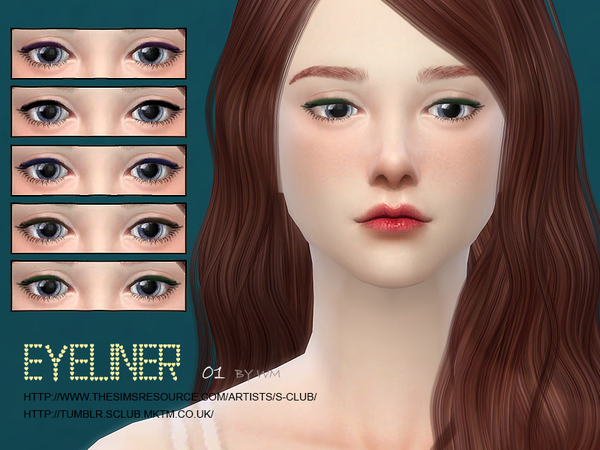Sims 4 Eyeliner 01 by S Club WM at TSR