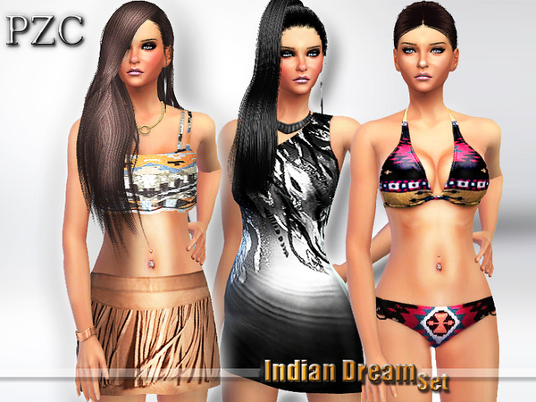 Sims 4 Indian Dream Set by Pinkzombiecupcakes at TSR