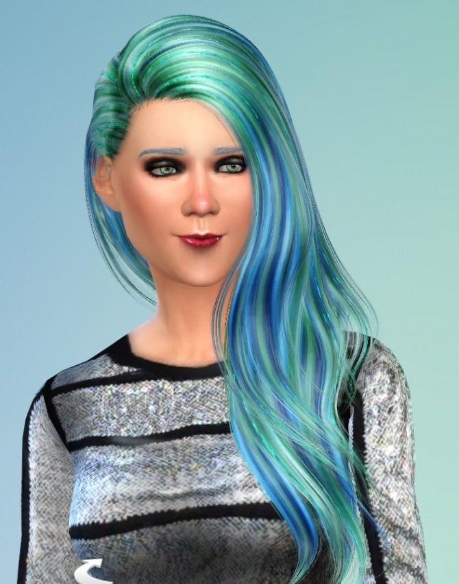 Sims 4 28 Recolors for Alessos Anchor Hair by Pinkstorm25 at Mod The Sims