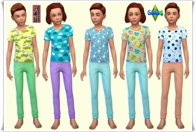Sleepwear for Kids at Annett's Sims 4 Welt image 4413 Sims 4 Updates