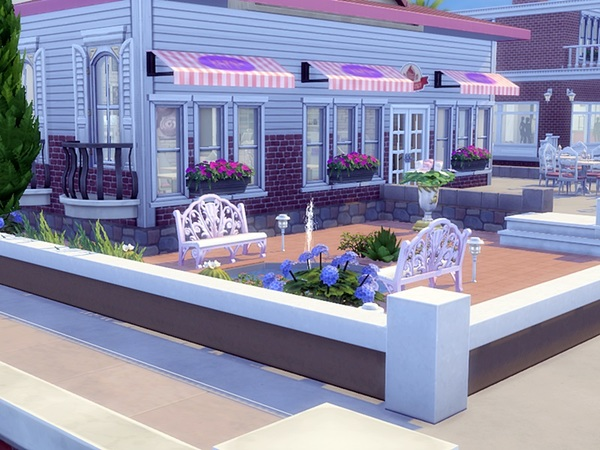 Sims 4 Rosaline Bakery by yvonnee at TSR