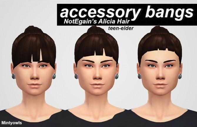 Sims 4 NOTEGAIN ALICIA ACCESSORY BANGS at MintyOwls