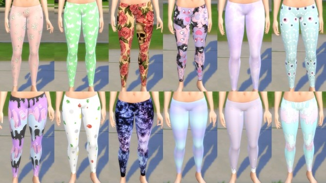 Luscious Leggings Random 12 Pack by LordBlumiere at Mod The Sims image 46 670x377 Sims 4 Updates