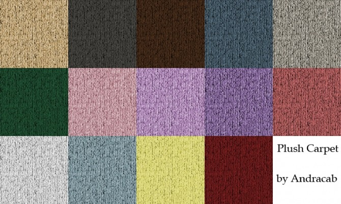 Sims 4 Plush Carpet Recolours by andracab at Mod The Sims