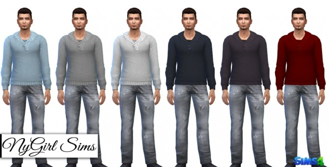Sims 4 Plain Knitted Fishermans Sweater at NyGirl Sims