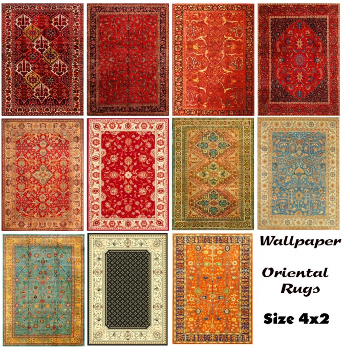 More Oriental Rugs Size 4x2 By Wallpaper At Mod The Sims