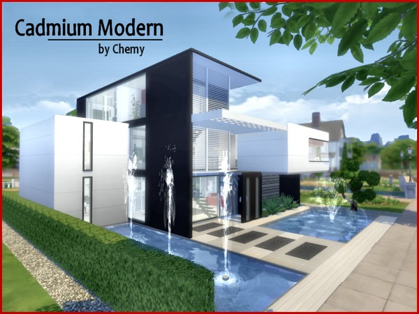 Cadmium Modern house by chemy at TSR » Sims 4 Updates