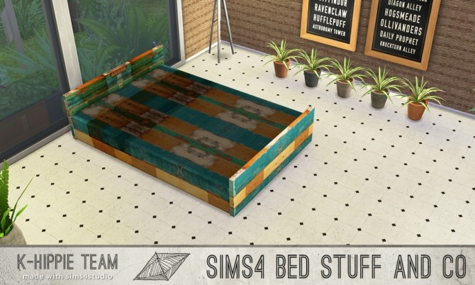 5 bed frames Doublepod volume 1 at K hippie image 4726 670x402 Sims 4 Updates