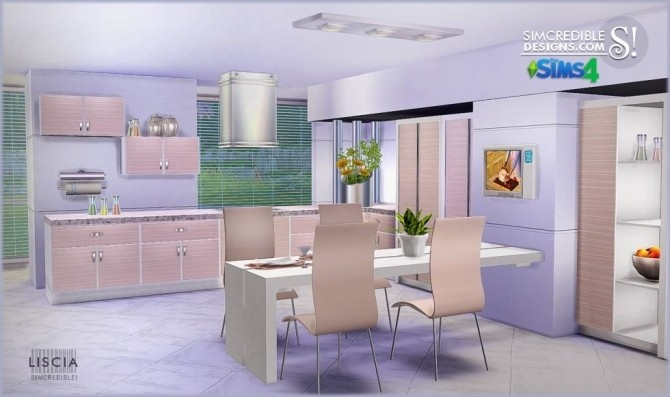 Liscia kitchen at SIMcredible! Designs 4 image 48 670x397 Sims 4 Updates