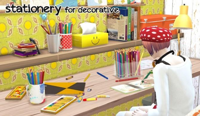 Sims 4 ALL Stationery at Imadako