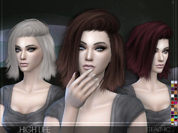 custom content hair sims 4 high life female hair by stealthic at tsr 187 sims 4 updates