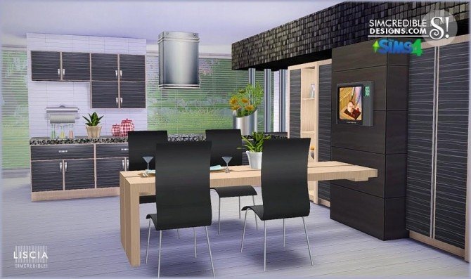 Liscia kitchen at SIMcredible! Designs 4 image 49 670x397 Sims 4 Updates