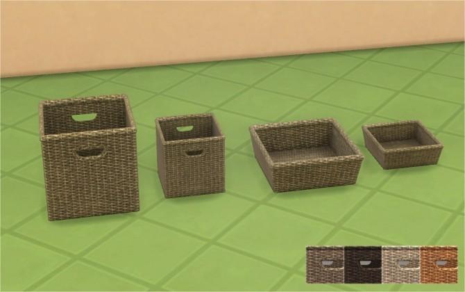 Sims 4 Woven Wicker Baskets at Veranka
