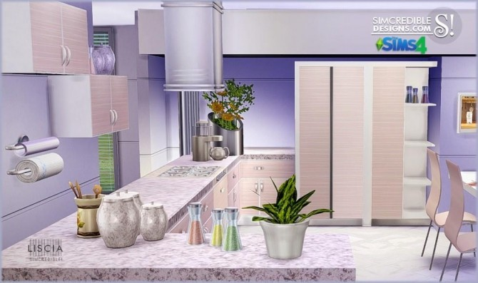 Liscia kitchen at SIMcredible! Designs 4 image 50 670x397 Sims 4 Updates