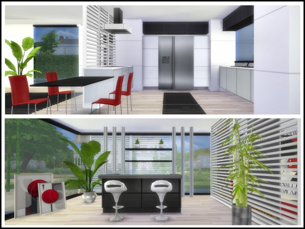 Sims 4 Cadmium Modern house by chemy at TSR