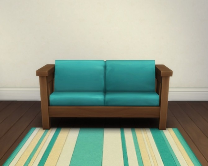 Sims 4 Mega Sans Loveseat by plasticbox at Mod The Sims