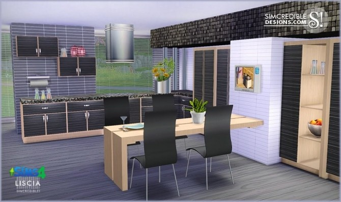 Liscia kitchen at SIMcredible! Designs 4 image 51 670x397 Sims 4 Updates