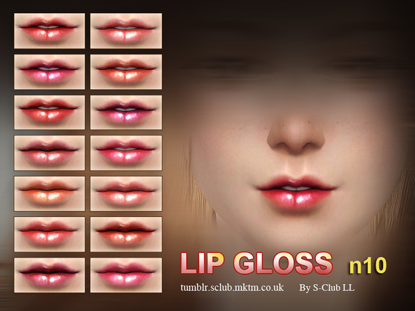Sims 4 Lipstick F10 by S Club LL at TSR