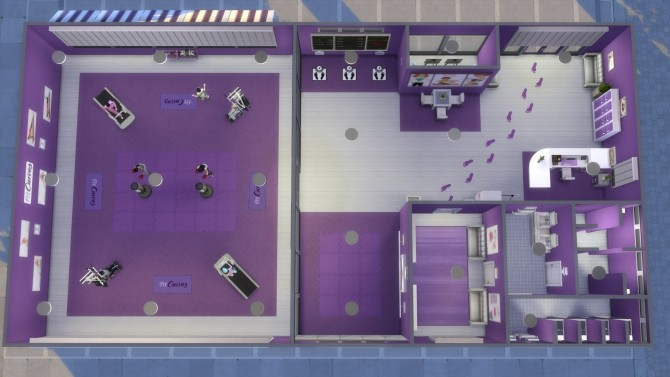 Sims 4 The Gym FitCurves by Mykuska at Mod The Sims