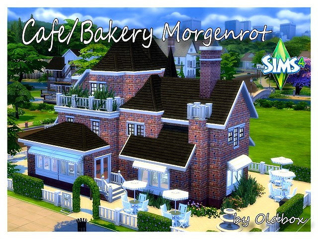 Morgenrot Cafe / Bakery by OldBox at All 4 Sims image 5116 Sims 4 Updates