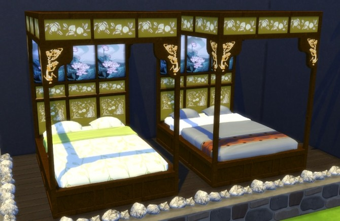 Asian Beds at Leander Belgraves image 514 670x435 Sims 4 Updates