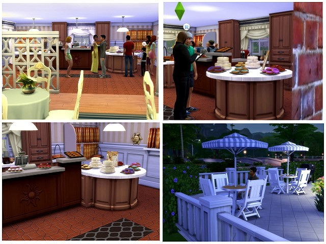 Morgenrot Cafe / Bakery by OldBox at All 4 Sims image 5213 Sims 4 Updates