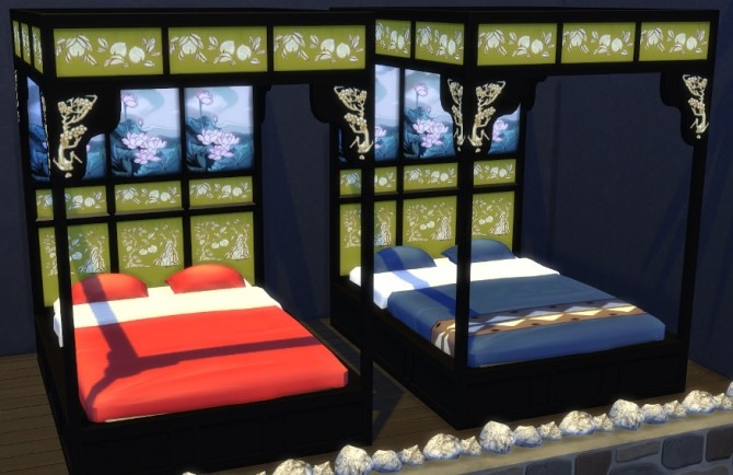 Asian Beds at Leander Belgraves image 522 670x434 Sims 4 Updates