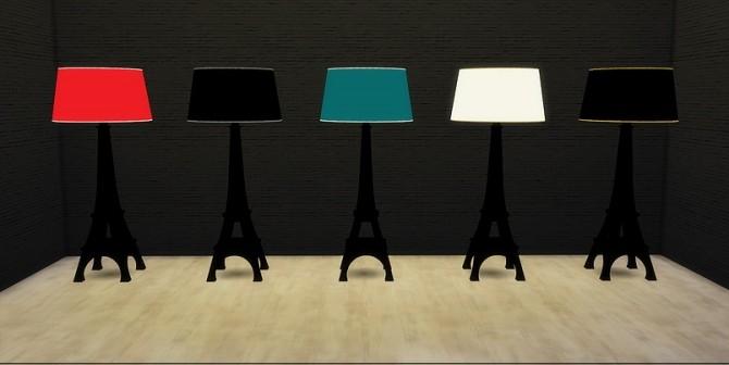 Sims 4 Eiffel Tower floor lamp at Meinkatz Creations