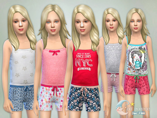 Sleepwear Collection Set G02 by Lillka at TSR image 529 Sims 4 Updates