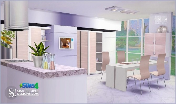 Liscia kitchen at SIMcredible! Designs 4 image 53 670x397 Sims 4 Updates