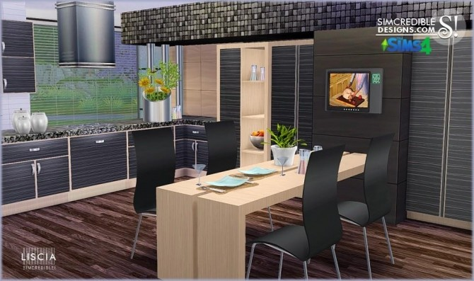 Liscia Kitchen At Simcredible Designs 4 Sims 4 Updates