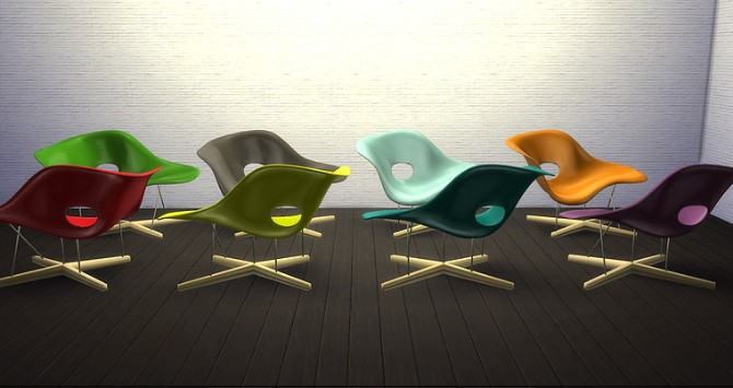 La chaise by eames at meinkatz creations sims 4 updates for 4 chaises eames