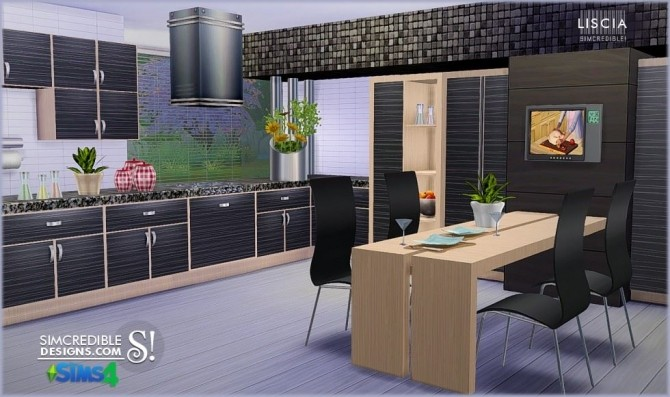 Liscia kitchen at SIMcredible! Designs 4 image 55 670x397 Sims 4 Updates