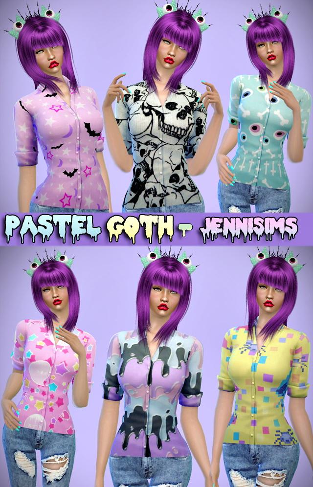 Pastel Goth Dress and Shirt Base Game compatible at Jenni Sims image 5524 Sims 4 Updates